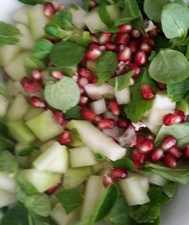 Frisse vegan meloen salade