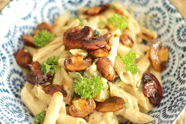 Romige-vegan-pasta - vegan eten - vegan pasta - vegan eten - vegan recepten