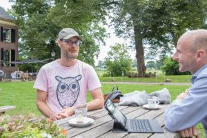 Floris van der Berg met Bart Collard - filosoof - vegalifestyle.nl - bekende Nederlander - bekende veganist