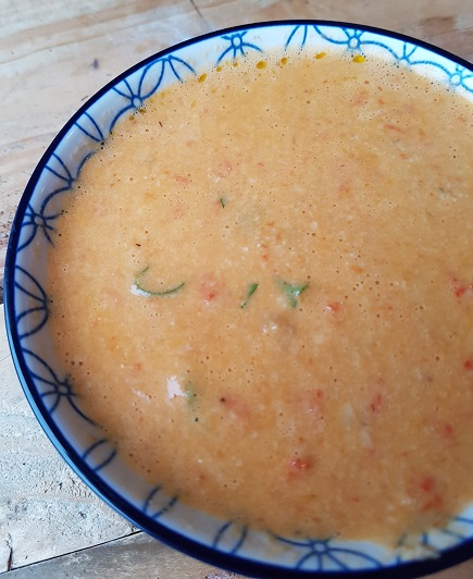 Vegan geroosterde paprika-cashewnotensoep - vegan recepten - vegan kerstrecept - veganistisch paas recept - brunch
