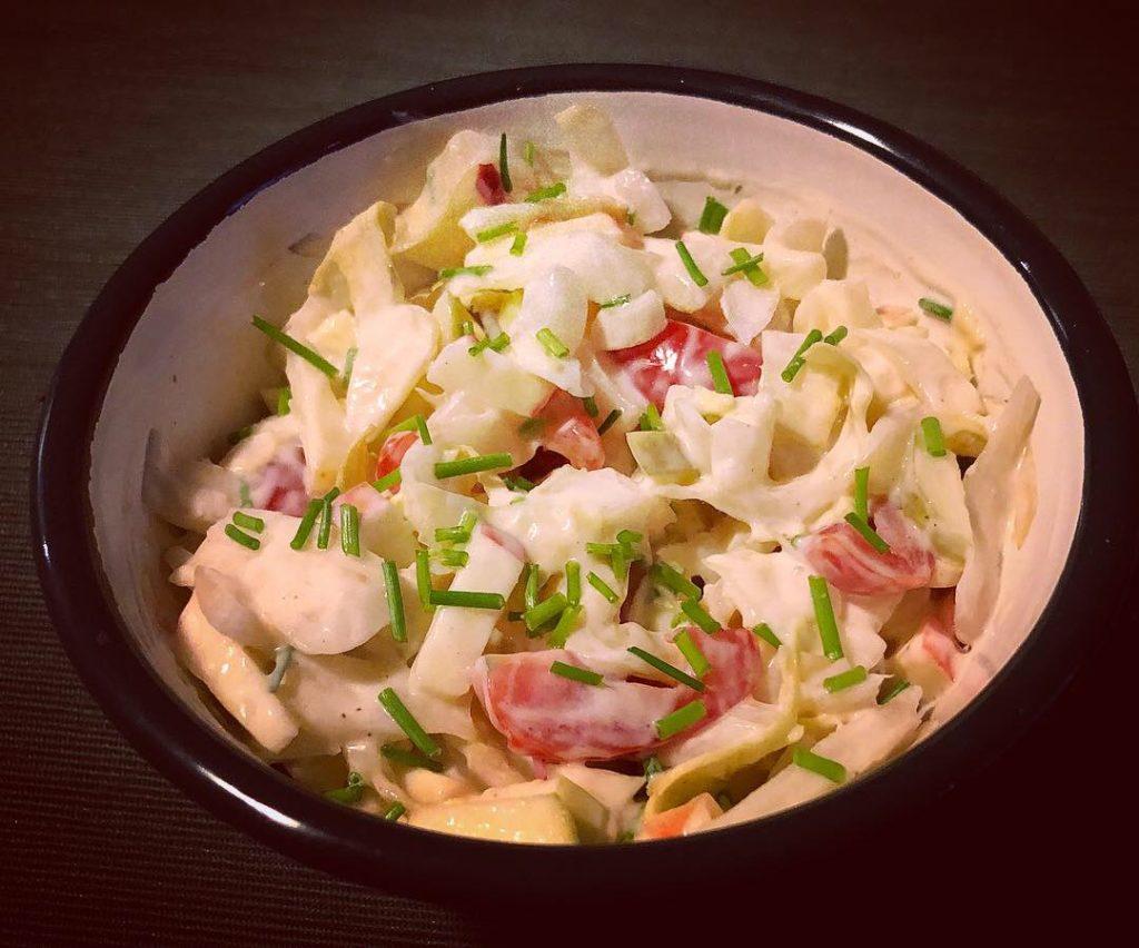 Belgische vegan witlof salade - recept