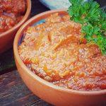 Aubergine dip met rode paprika - vegan recept - vegan gourmetten