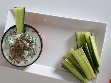 komkommer - dip - dippen voor rauwkost