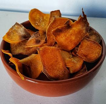 zoete aardappelchips - vegan chips