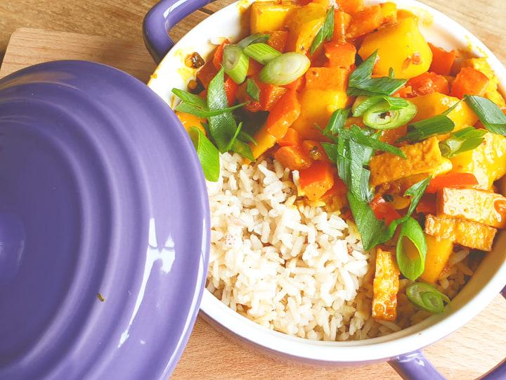 Vegan curry - veganistische curry - vegatarische curry - curry