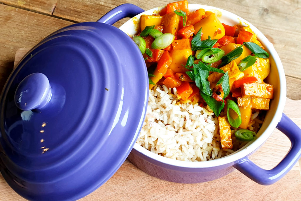 Veganistische curry - vegan curry - curry
