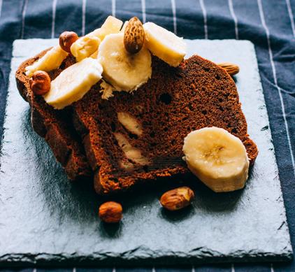Banana Sheet Cake - vegan ontbijt