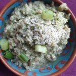 aubergine dip - aubergine spread - vegan op brood - vegan spread voor op brood -groente dip