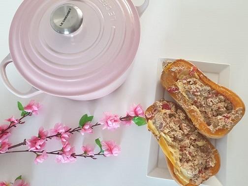 gevulde pompoen - gevulde fles pompoen - vegan recept - vegan pasen - vegan kerst - vegan verjaardag