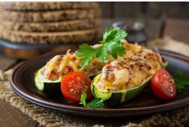 Gevulde coutgette - vegan recepten - vegan beauty weetjes
