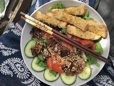 vegan salade - veganistische maaltijd salade - vegan eten - veganistisch recpet