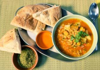 Harira maaltijdsoep - vegan soep - veganistische soep