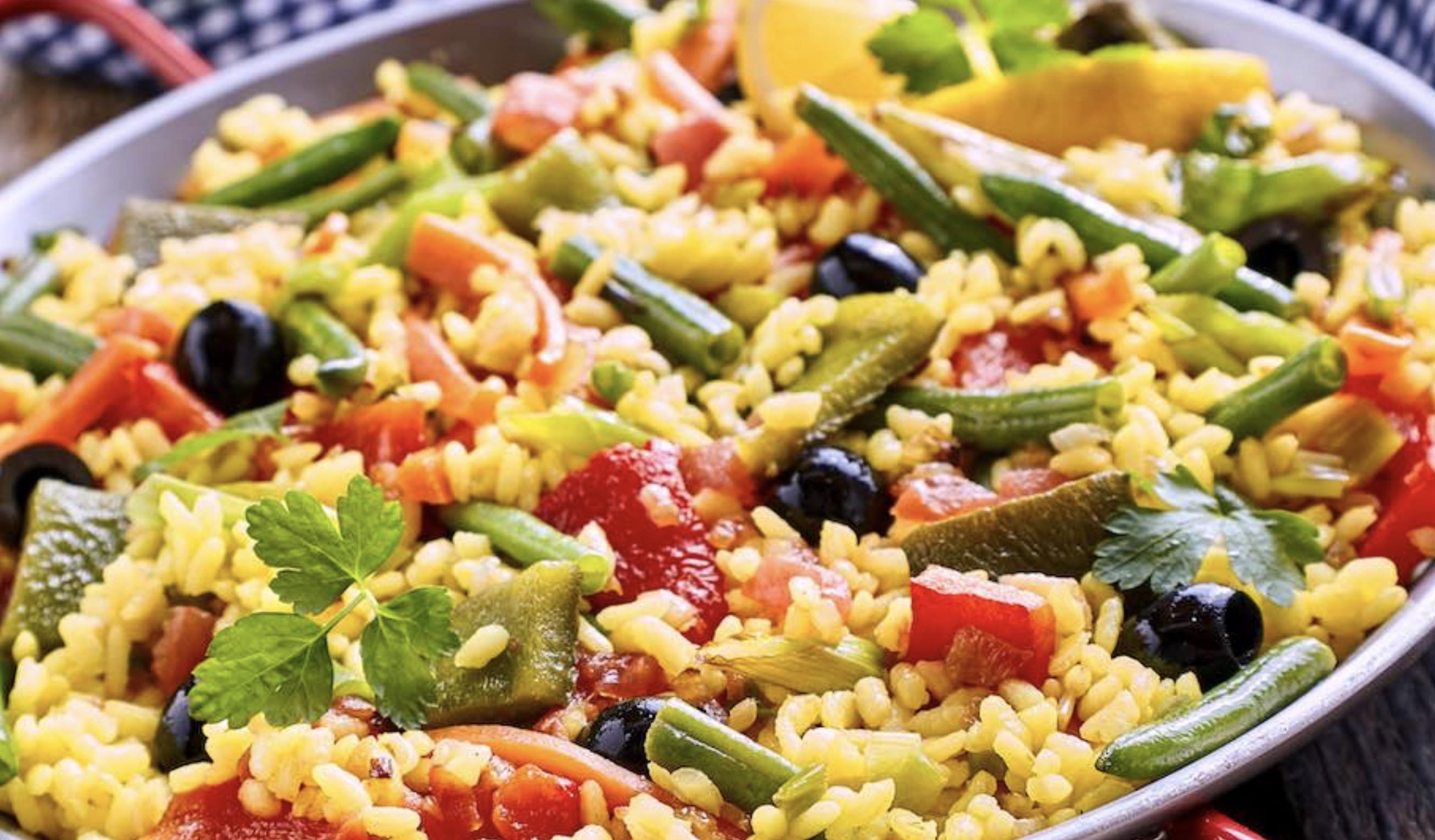 Spaanse paella vegan - paella - vegan recept - veganistisch paella
