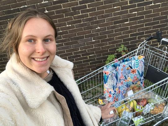 cill somers - vegan boodschappen doen - vegan in de supermarkt