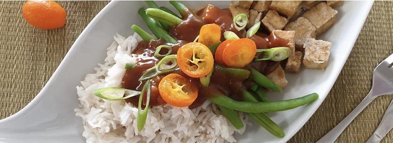 Tofu-met-sinaasappelsaus - vegan recept met tofu
