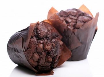 Vegan chocolade-sinaasappel muffin