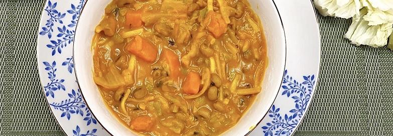madras soep - vegan soep - veganistische soep