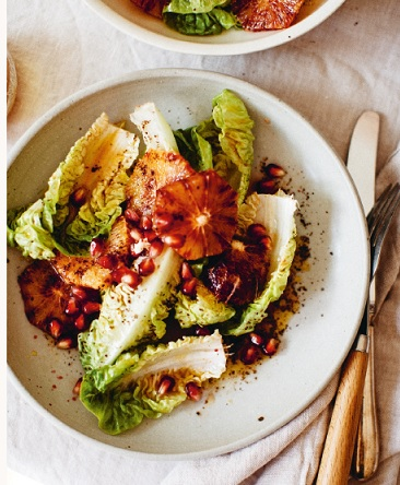 little gem en bloedsinaasappel salade