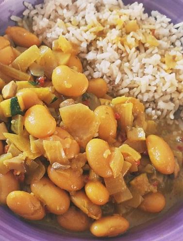 vegan curry madras met lima bonen deze is zo onwijs lekker