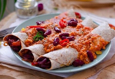vegan Burrito Bolgnese een super makkelijk en lekker recept