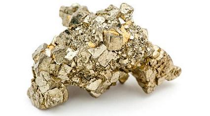 Pyriet edelsteen, die je bijna overal wel kunt vinden