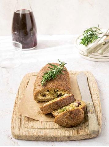 vegan gevuld gehaktbrood
